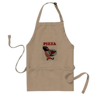 Delantal camarero de la pizza del vintage