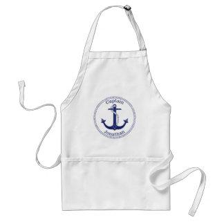 Delantal Capitán náutico Personalized de los azules marinos