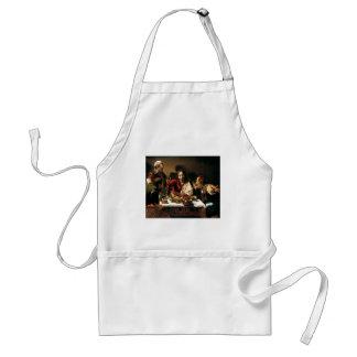 Delantal Caravaggio - cena en Emmaus - pintura clásica