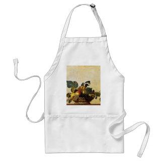 Delantal Caravaggio - cesta de fruta - ilustraciones