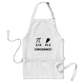 Delantal Chiste de la matemáticas de la coincidencia del pi