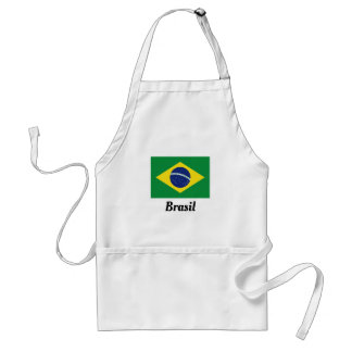 Delantal Cocina brasileña de encargo del Bbq de la bandera