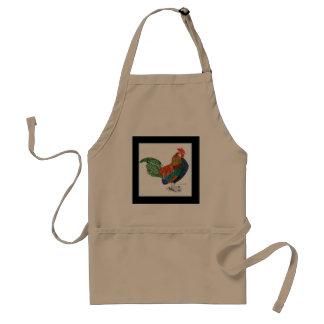 Delantal colorido del gallo
