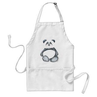 Delantal con el oso de panda único
