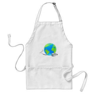 Delantal Concepto de la salud del globo del mundo de la