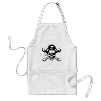 Delantal Cráneo y bandera pirata del pirata