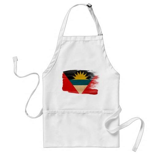 Delantal de la bandera de Antigua y de Barbuda