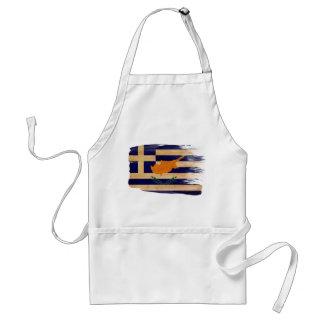 Delantal de la bandera de Chipre del Griego