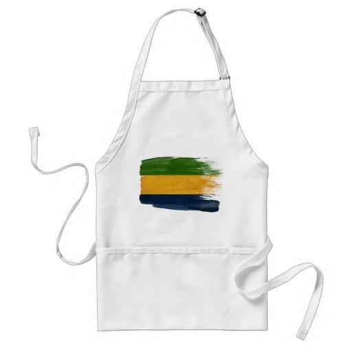 Delantal de la bandera de Gabón