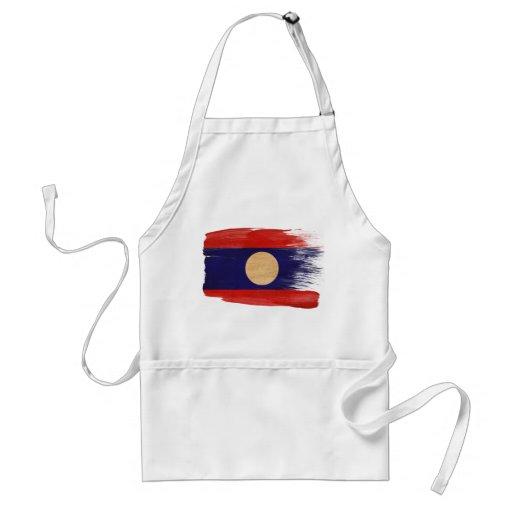 Delantal de la bandera de Laos