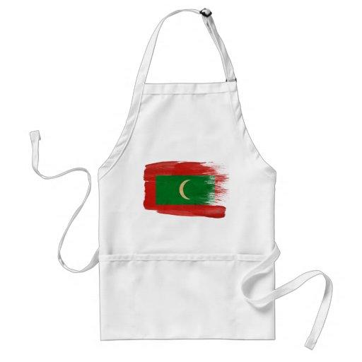 Delantal de la bandera de Maldivas