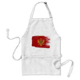 Delantal de la bandera de Montenegro