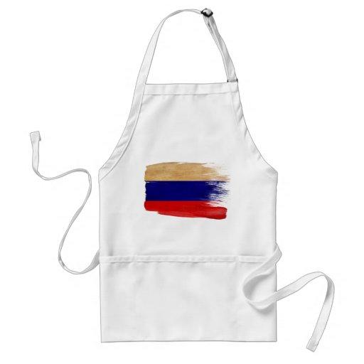Delantal de la bandera de Rusia