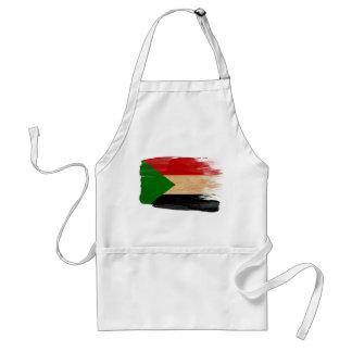Delantal de la bandera de Sudán