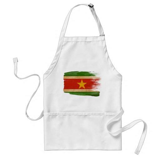 Delantal de la bandera de Suriname