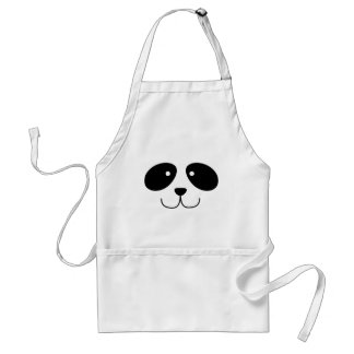 Delantal de la cara de la panda