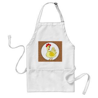 Delantal de la cocina del papel de Kraft del gallo