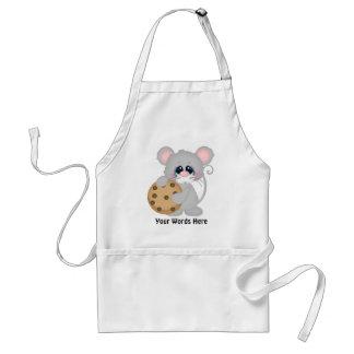 Delantal de los vendedores del ratón de la galleta