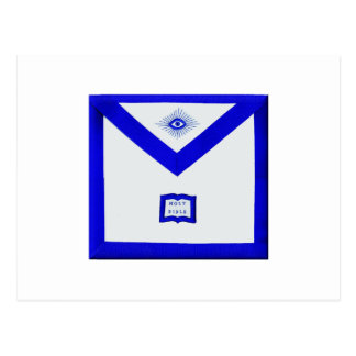 Delantal del capellán de los albañiles postal