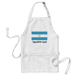 Delantal del cocinero de la bandera de la Argentin