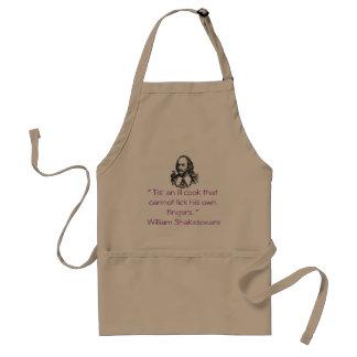 """Delantal del """"cocinero enfermo"""" de Shakespeare"""