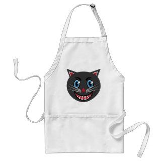 Delantal del gato negro del vintage