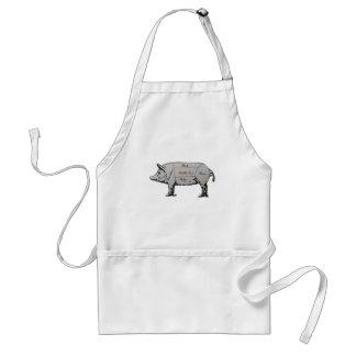 Delantal Diagrama del cerdo