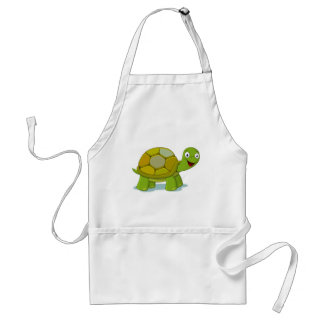 Delantal Dibujo del dibujo animado de la tortuga