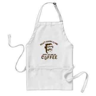 Delantal diseño del café