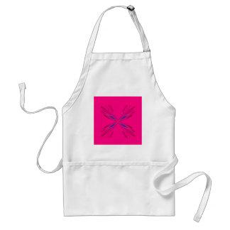 Delantal Diseño rosado de la mandala