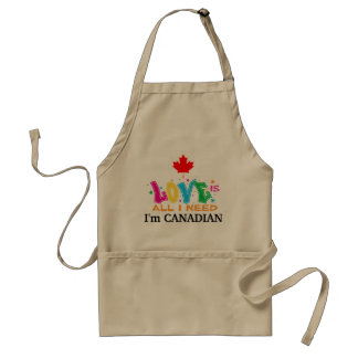 Delantal El amor es todo lo que necesito - soy canadiense