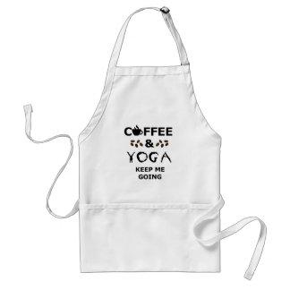 Delantal El café y la yoga guardan el ir