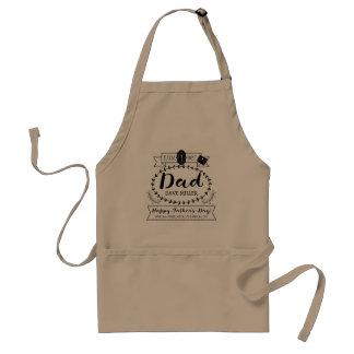 Delantal El día de padre feliz número 1 un logotipo del