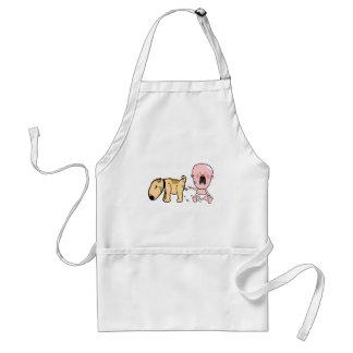 Delantal El perro Pisses en la camiseta Bebé-Divertida