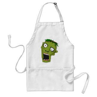 Delantal El zombi Halloween muerto asustadizo hace frente