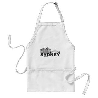 Delantal Esquema del texto de Sydney Australia Sklyine