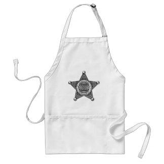 Delantal Estilo grabado insignia de la estrella del sheriff