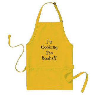 Delantal ¡Estoy cocinando los libros! Idea del regalo de la