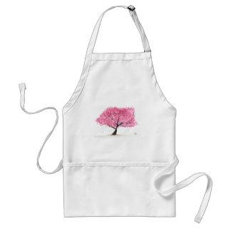 Delantal Flor de cerezo rosada del árbol