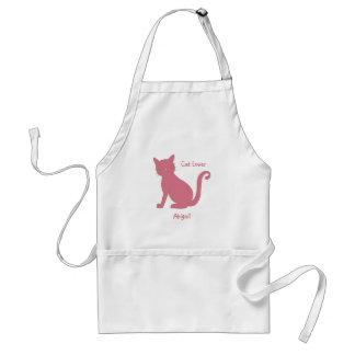 Delantal Gato rosado