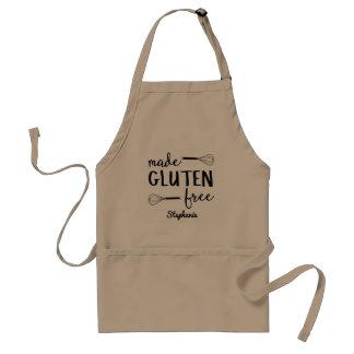 Delantal Gluten hecho amistoso celiaco personalizada libre