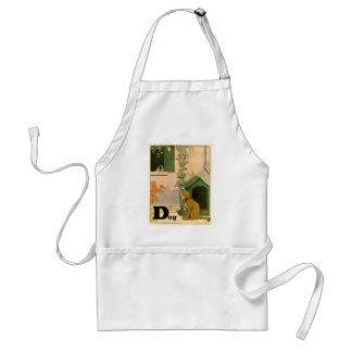 Delantal Golden retriever y Jack Russell Terrier