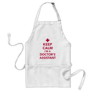 Delantal Guarde la calma que soy doctor auxiliar