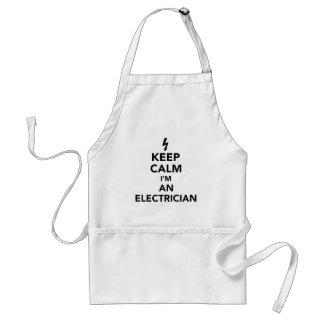 Delantal Guarde la calma que soy electricista