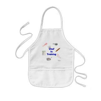 Delantal Infantil Cocinero en el entrenamiento