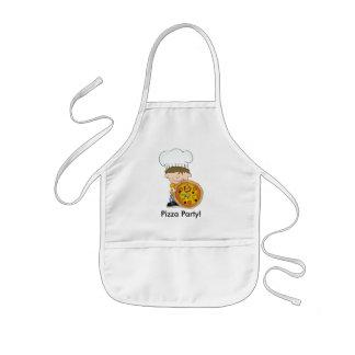 Delantal Infantil Cocinero lindo del fiesta de la pizza de los niños