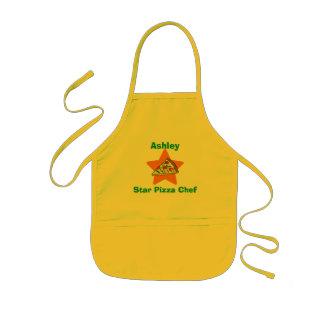 Delantal Infantil Cocinero personalizado de la pizza de la estrella