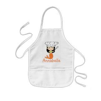 Delantal Infantil El cocinero anaranjado de la sirena personaliza