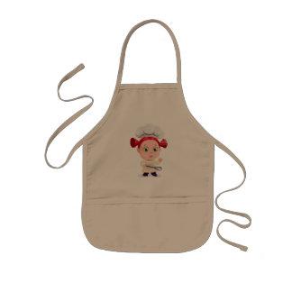 Delantal Infantil Imagen del cocinero del chica del niño del