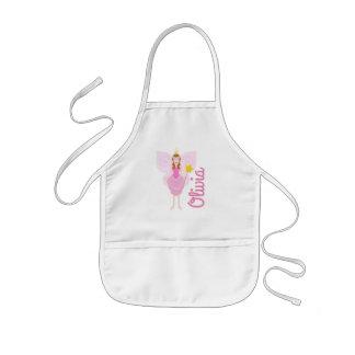 Delantal Infantil La hada rosada bonita adaptable embroma el